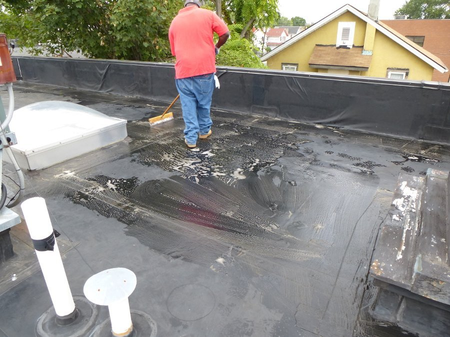 cleaning substrate before waterproofing