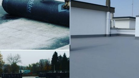 Waterproofing with bitumen felt or liquid membrane